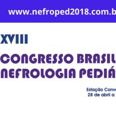 XVIII Congresso Brasileiro de Nefrologia Pediátrica. Confira a programação!